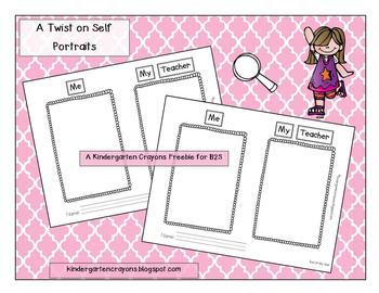 A New Twist On Self Portraits: My Back to School Freebie