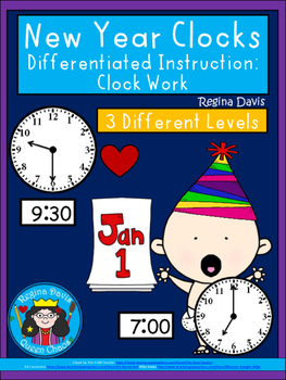 A+ New Year Analog Clock & Digital Clock Work (Hour and Ha