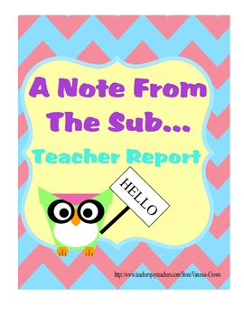A Note From The Sub Owl Theme Recap Report for Substitute
