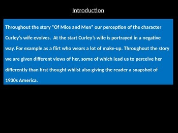 A* Of Mice and Men exemplar essay