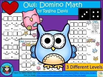 A+ Addition Owl: Domino Math