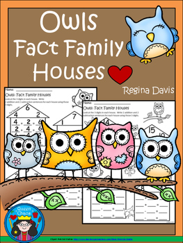 A+ Owls  Fact Family Houses