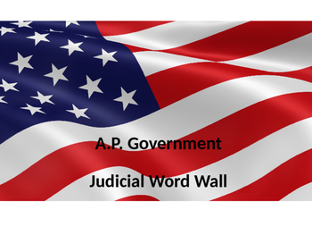 A.P. Government Word Wall: Judicial Branch
