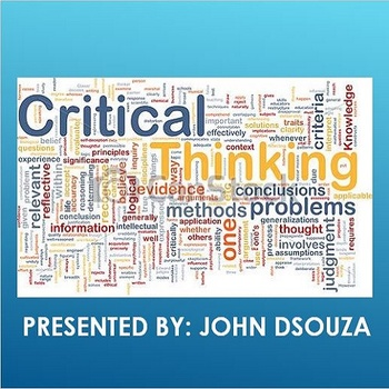 A PRESENTATION ON CRITICAL THINKING