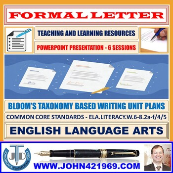 A PRESENTATION ON FORMAL LETTER WRITING