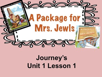 A Package for Mrs. Jewls Unit 1 Lesson 1 Activities