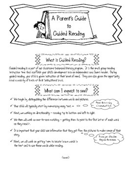 A Parent's Guide to Guided Reading
