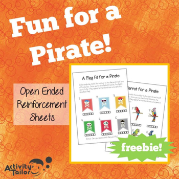 Fun for a Pirate (a FREE open-ended worksheet activity)