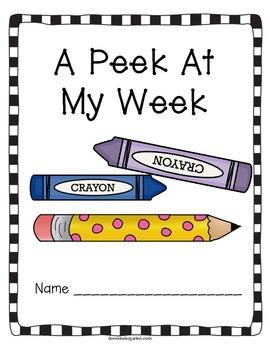 A Peek At My Week Weekly Kindergarten Writing Home/School