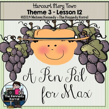 StoryTown Lesson 12 {A Pen Pal for Max - 3rd Grade}