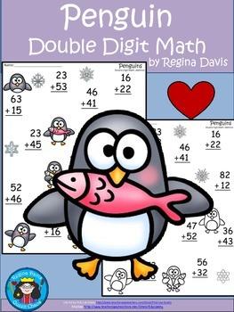 A+  Penguin: Double Digit Addition