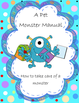 A Pet Monster  Manual Writing Activity