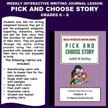 Interactive Weekly Writing Notebook Lesson - A Pick and Ch