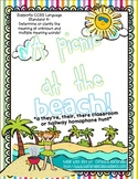 A Picnic at the Beach- Classroom or Hallway Homophone Hunt