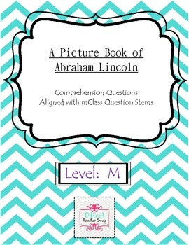 A Picture Book of Abraham Lincoln Comprehension Questions-