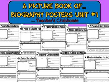 A Picture Book of...Biography Posters Unit #1 from Teacher