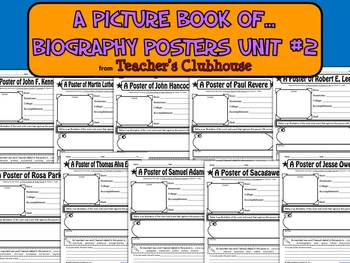 A Picture Book of...Biography Posters Unit #2 from Teacher