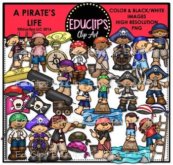 A Pirate's Life Clip Art Bundle {Educlips Clipart}
