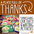 Thankgiving Craft - A Plate Full of Thanks