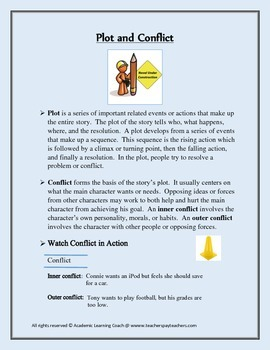 Plot and Conflict Lesson for Descriptive Writing
