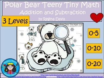 A+  Polar Bear Teeny Tiny Math: I Spy  Addition & Subtraction