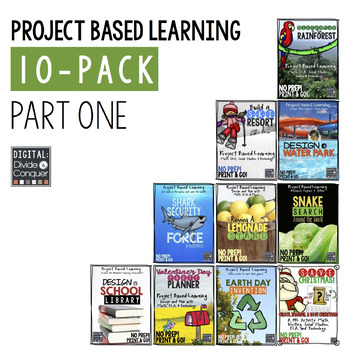 Project Based Learning Activity Bundle, 10-Pack