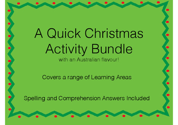 A Quick Christmas Activity Bundle