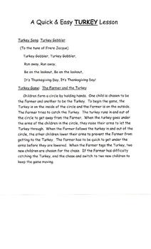 A Quick & Easy TURKEY Lesson