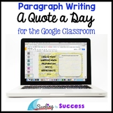 A Quote a Day: Respond to a Quote Paragraph Writing for th