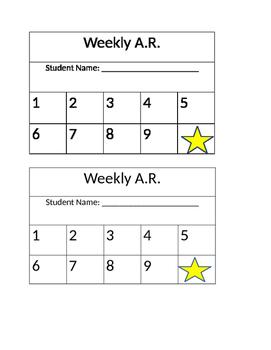 A.R. Goal Sheet