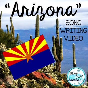 """ARIZONA State Facts Song and Literacy Activities: """"A-R-I-Z"""