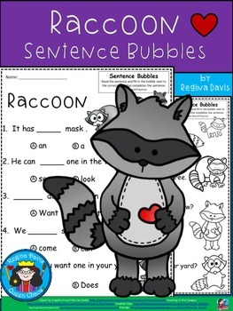 A+ Raccoon: Fill In the Blank.Multiple Choice Sight Word S