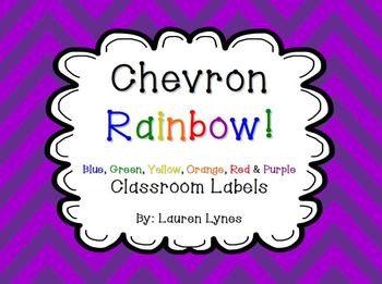 A Rainbow of Chevron! {Classroom Labels}