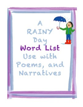 A Rainy Day Word List
