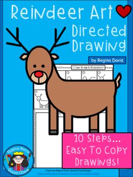 A+ Reindeer Art: Directed Drawing