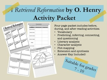 A Retrieved Reformation by O. Henry Activity Packet