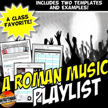 A Ancient Roman Playlist Fun Activity!