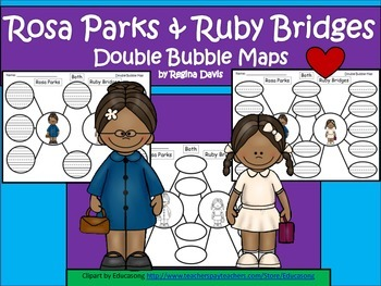 A+ Rosa Parks & Ruby Bridges Double Bubble Maps