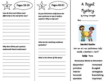 A Royal Mystery Trifold - Journeys 5th Grade Unit 1 Week 2