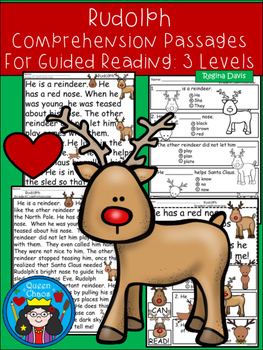 A+ Rudolph Comprehension:Differentiated Instruction For Gu