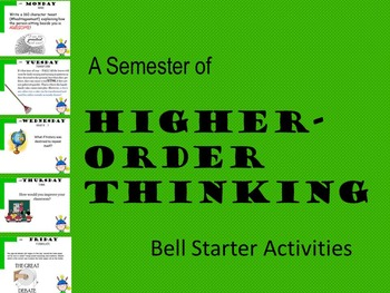 A SEMESTER OF HIGHER-ORDER THINKING ENGLISH BELL STARTER A