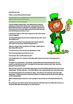A STRANGE MEETING- St Patrick's Day Visualisation and writ