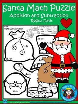 A+ Santa Claus Math Puzzle