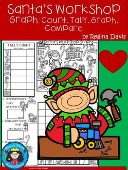 A+ Santa's Workshop Graph: Count, Tally, Graph, and Compare