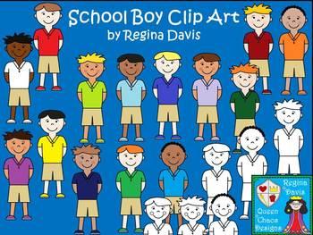 A+ School Boy Commercial Clip Art