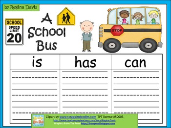 A+  School Bus FREEBIE ... Three Graphic Organizers