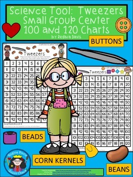 A+ Science Tool: Tweezers with 100 and 120 Number Charts