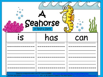 A+  Seahorse ... Three Graphic Organizers