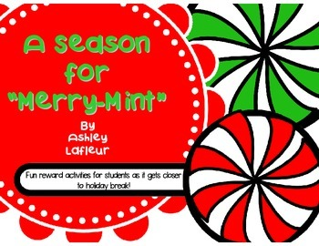 "A Season for ""Merry-Mint""- Christmas Reward Activities"