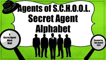 A Secret Agent Word Wall Freebie